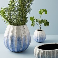 Glazed Indigo Pot