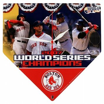 Boston Red Sox - 2007 World Series Champs Home Plate Clock