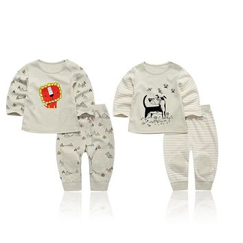 2018 New Baby Suit Cute cartoon  Boys Clothing Sets Newborn Girl Suits Fall Cotton Pant+T-shirt 2Pcs Clothes set