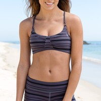 O'Neill - Faith Sports Bra | Gray Stripe