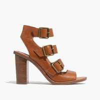 The Corin Buckle Sandal in Brown Leather