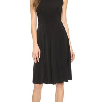 Norma Kamali Sleeveless Flared Dress