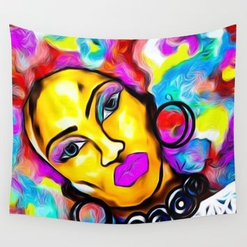 AFROTASTIC Wall Tapestry by violajohnsonriley