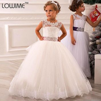 Beauty Child Organza Pageant Ball Gowns For Girls Pretty Long Dresses For Kids Evening Gowns Flower Girl Dresses For Weddings