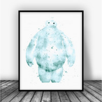 Baymax Big Hero 6, Art Print Poster
