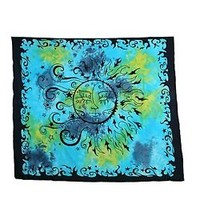 Sun TieDye Bohemian Psychedelic Floral Indian Hippie Tapestry Throw Wall Hanging