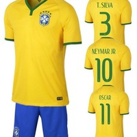 other' Top Thai 2014Brazil World Cup Kit Short sleeve Soccer Jersey - DinoDirect.com