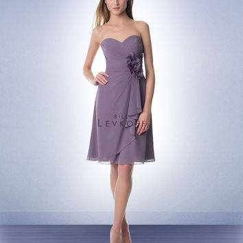 Bill Levkoff Short Chiffon Bridesmaids Dress 944