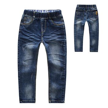 Baby Hole Pants Boys Jeans Girls Skinny Pants 2017 Casual Denim Trousers Children Pants High Quality Fashion Boy Trousers Kids