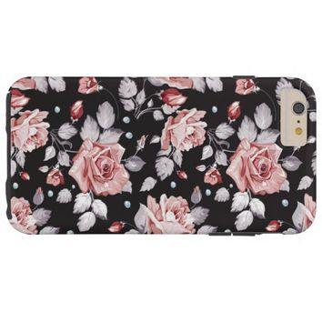 Vintage Pink Floral Pattern iPhone 6 Plus Case