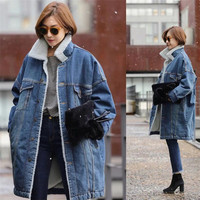 Plus Size Denim Cotton Jacket [9375061642]