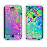 The Neon Color Fushion Apple iPhone 6 Plus LifeProof Nuud Case Skin Set
