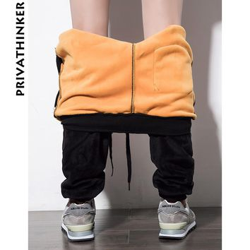 Privathinker Pleuche Fleece Warm Jogger Pants Men Gold Velvet Jogger Pants Women Winter Thick Sportwear Male Sweatpants Trousers