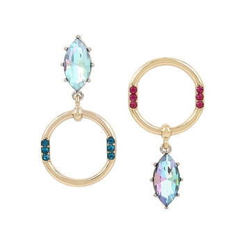 GRANNY CHIC CIRCLE EARRINGS: Betsey Johnson