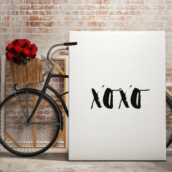 "PRINTABLE ""XOXO"" Quote Poster XO Print Love Wall Decor Print Love Wall Art Love Quote Print Xo Printable Love Quote Sign Bedroom Poster"