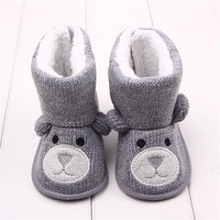 Baby Shoes Winter Snow Boots Toddler Girl Knitted Footwear