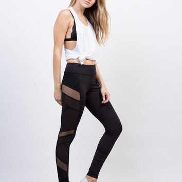 Side Mesh Activewear Leggings