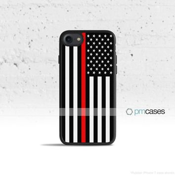A Thin Red Line Phone Case Cover for Apple iPhone iPod Samsung Galaxy S & Note