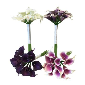 Real Touch calla lily bouquet-1 dozen of calla lily(Pick calla lily color)