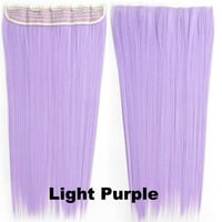 "A.H Dip-dye Color Straight 24"" Synthetic Hair Extensions Hairpiece Color Light Purple"