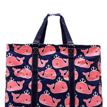 Utility Tote Extra Large - Whale Print