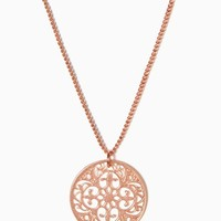Filigree Disc Necklace | Fashion Jewelry - Be Charmed | charming charlie