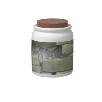 Old Wall, Stone, Bricks Candy Dish