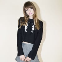 Sea Unicorn Crop Sweatshirt