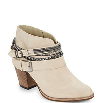 Dolce Vita - Chain & Buckle Suede Ankle Boots