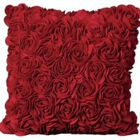 One Kings Lane - Pillows & Throws - Nourison Roses Pillow, Red