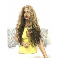 Blond balayage lace front wig - Passion 418 6*