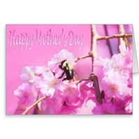 Happy Mother's Day Bee And Weeping Willow Card