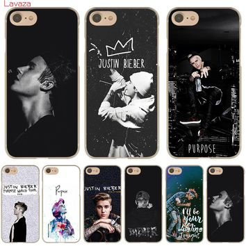 Lavaza Fashion JUSTIN BIEBER  Hard Case for iphone 4 4s 5c 5s 5 SE 6 6s 6/7/8 plus X for iphone 7 case