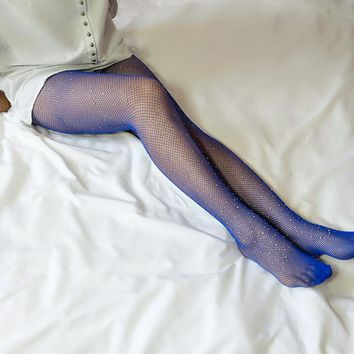 Sexy mesh socks fishnet socks with small mesh pantyhose Silk stockings thin diamond socks
