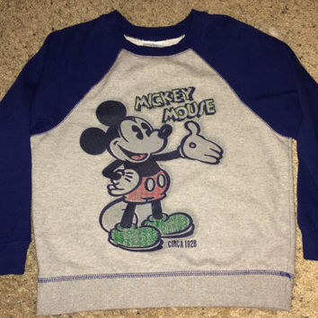 Sale!! Vintage MICKEY MOUSE Circa 1928 Casual Sweaters Kids' DISNEY SweatShirt / Sweater