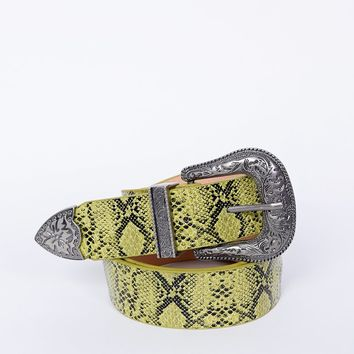 Wild West Snakeskin Belt