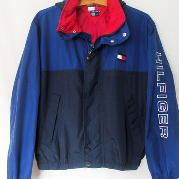 Vintage 1990s Tommy Hilfiger Windbreaker Jacket