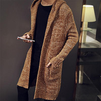 Men's Long Cardigan Sweater