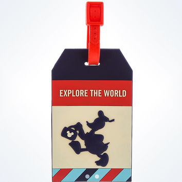 disney parks TAG collection donald luggage tag explore the world new with tags