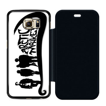 Arctic Monkeys Sticker Flip Case Samsung S6  Case