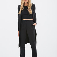 High-Waisted Crepe Pants