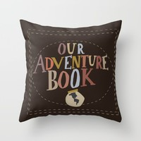our adventure book Throw Pillow by studiomarshallarts
