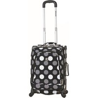 "Rockland Luggage 20"" Spinner Carry-On Suitcase, Black Dot - Walmart.com"