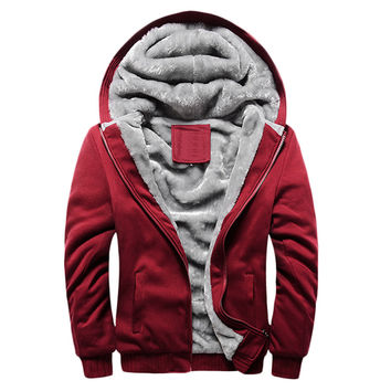 Men Hoodies Thick Warm Fashion Sweatshirt Jacket