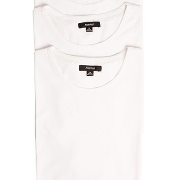 Split Hem Tall Tees - 3 Pack White