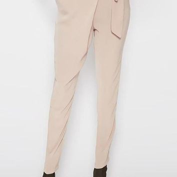 Harem Side Wrap Trousers Creme