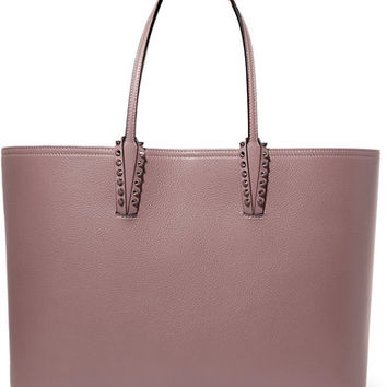 Christian Louboutin - Cabata spiked textured-leather tote