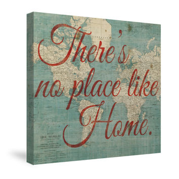 World Map Inspiration - No Place Like Home Canvas Wall Art