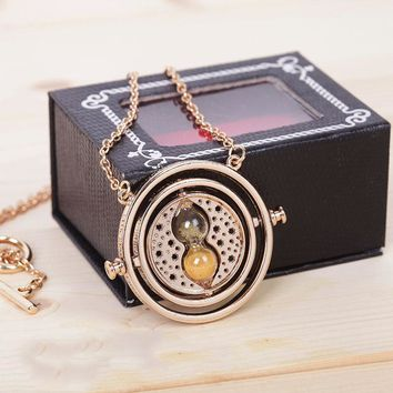 Harry Potter Golden Snitch Time-Turner Necklace Keychain Cosplay Accessory