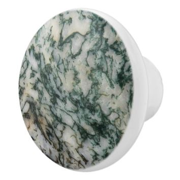 Green Tree Agate Drawer Knobs